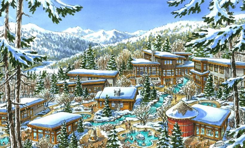 artist rendering of scandiave spa whistler