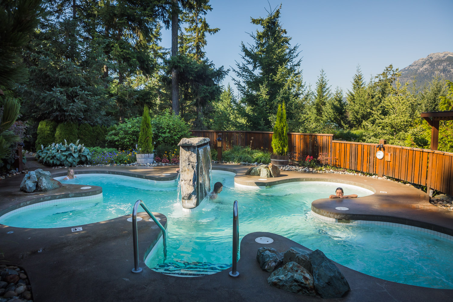 hot pool at the Scandinave Spa Whistler