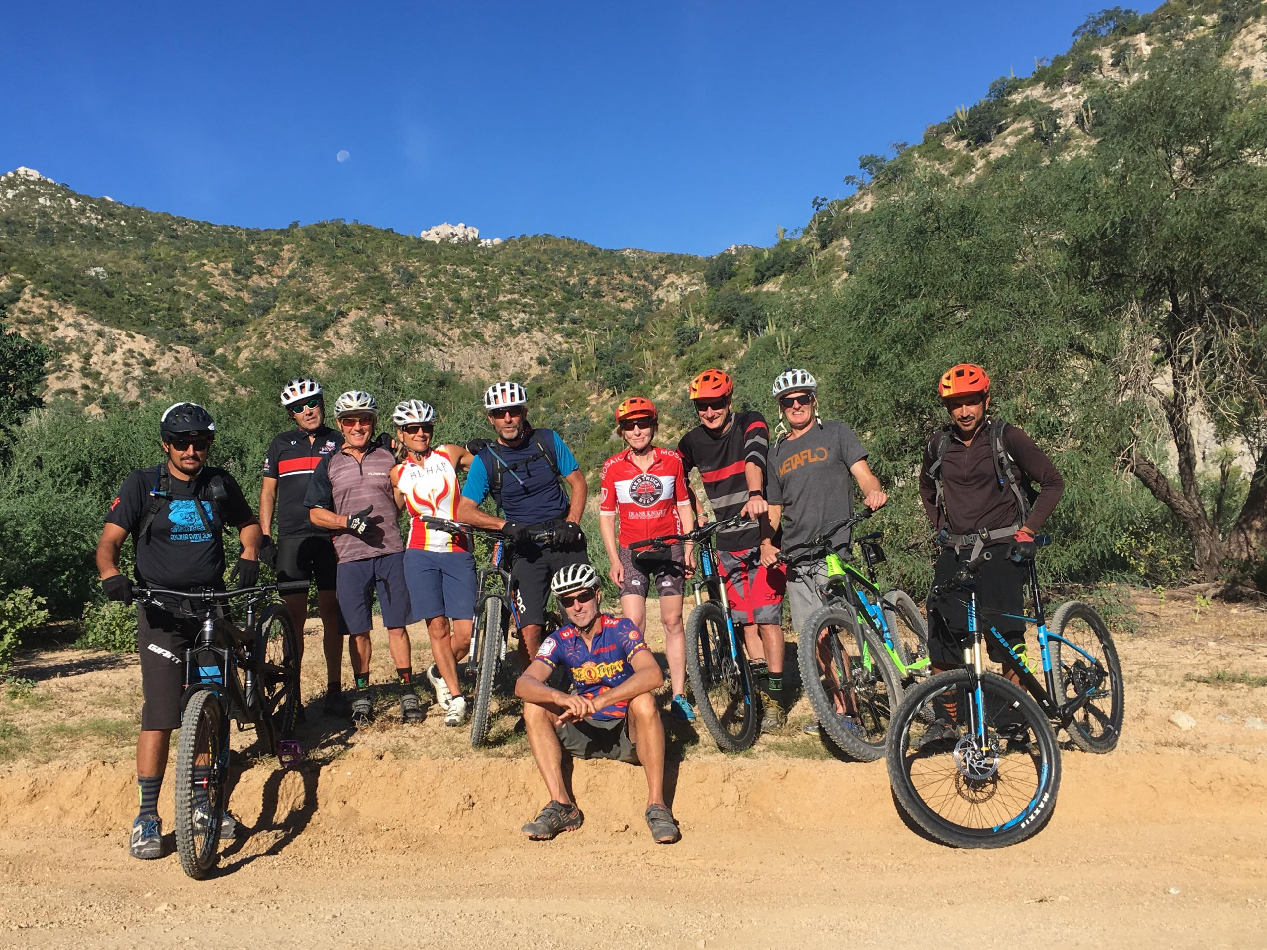 Grant Lamont Spa Ambassador with biking group
