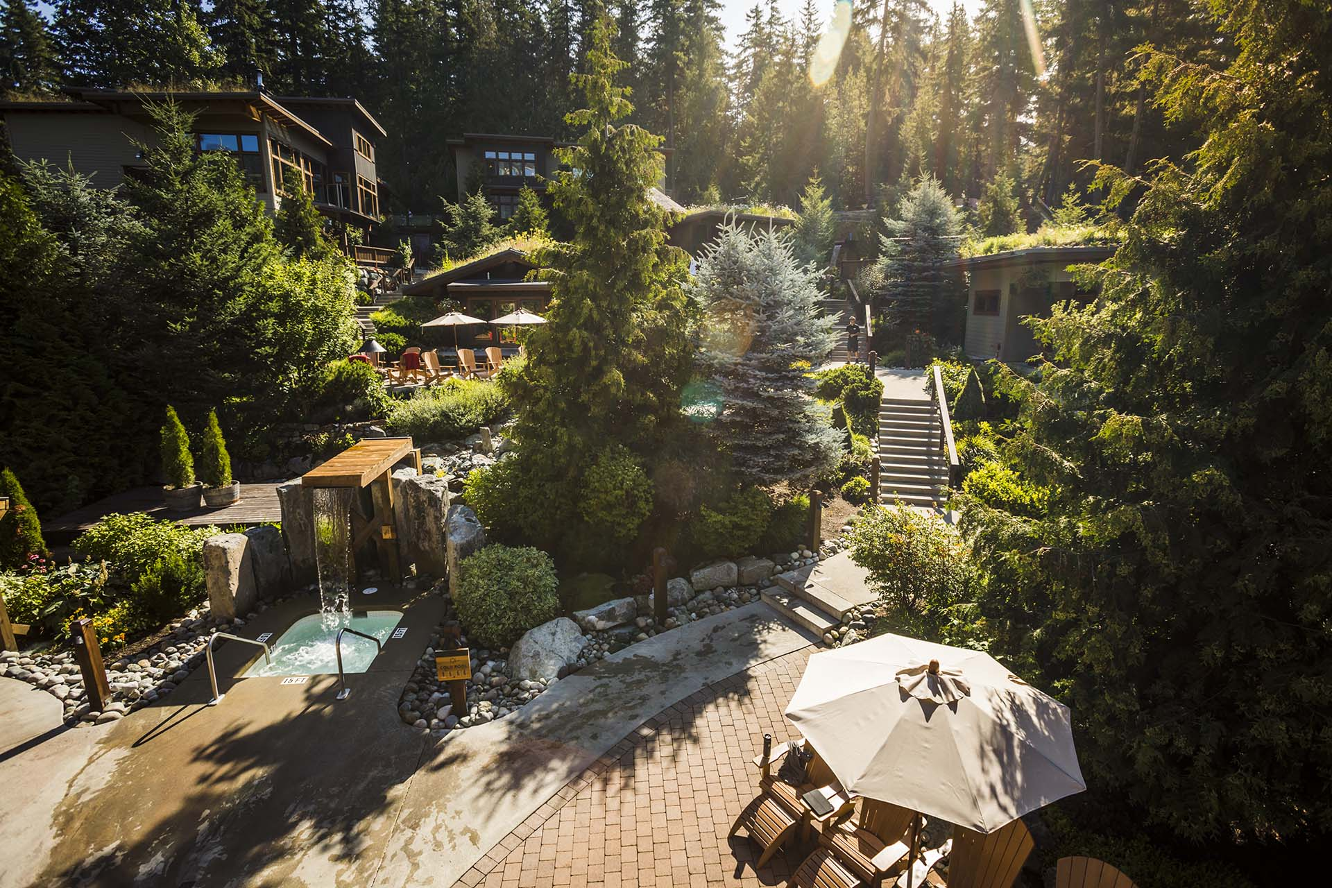 Overview of the Scandinave Spa Whistler, British Columbia