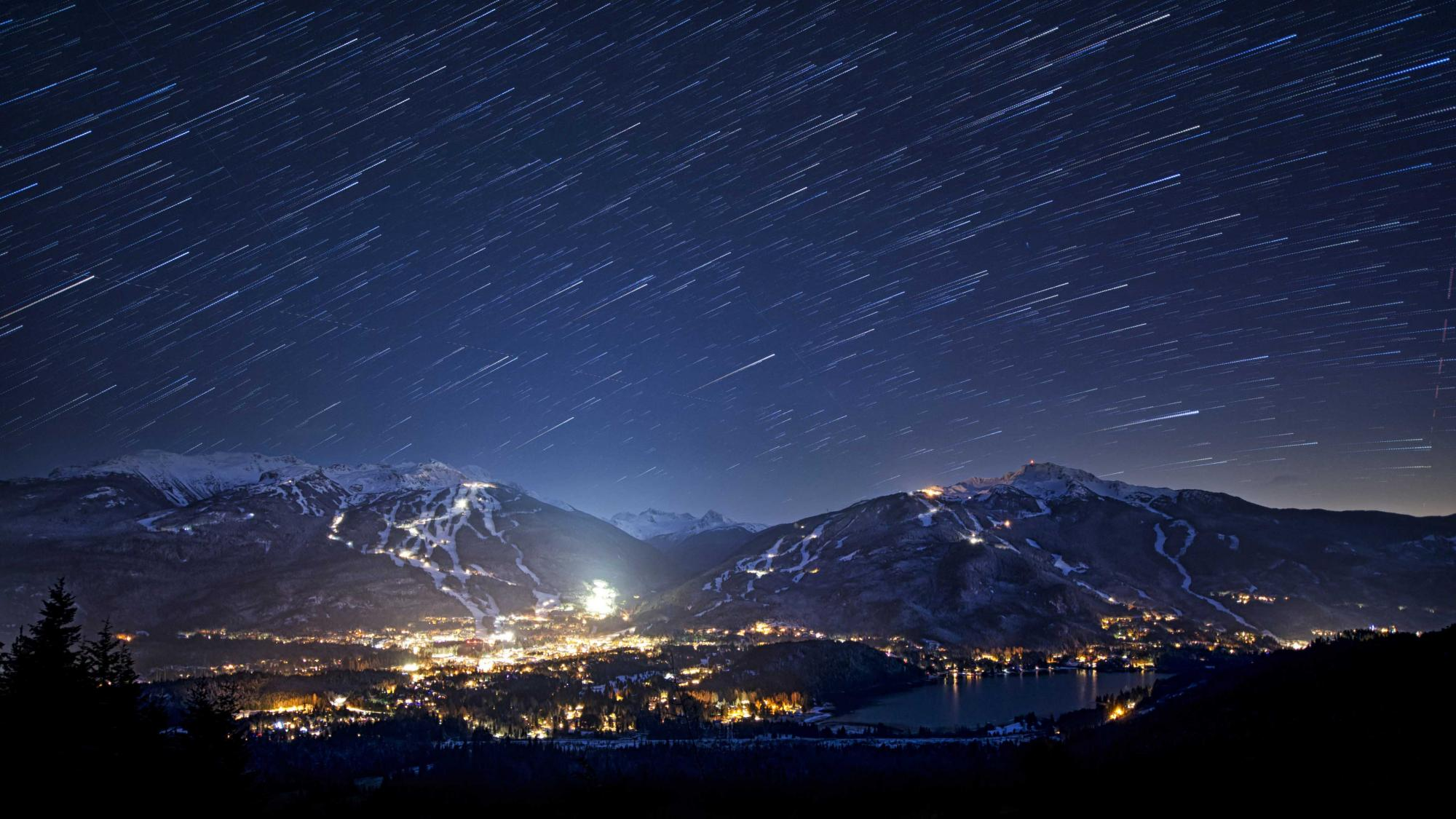 Whistler Blackcomb village at night