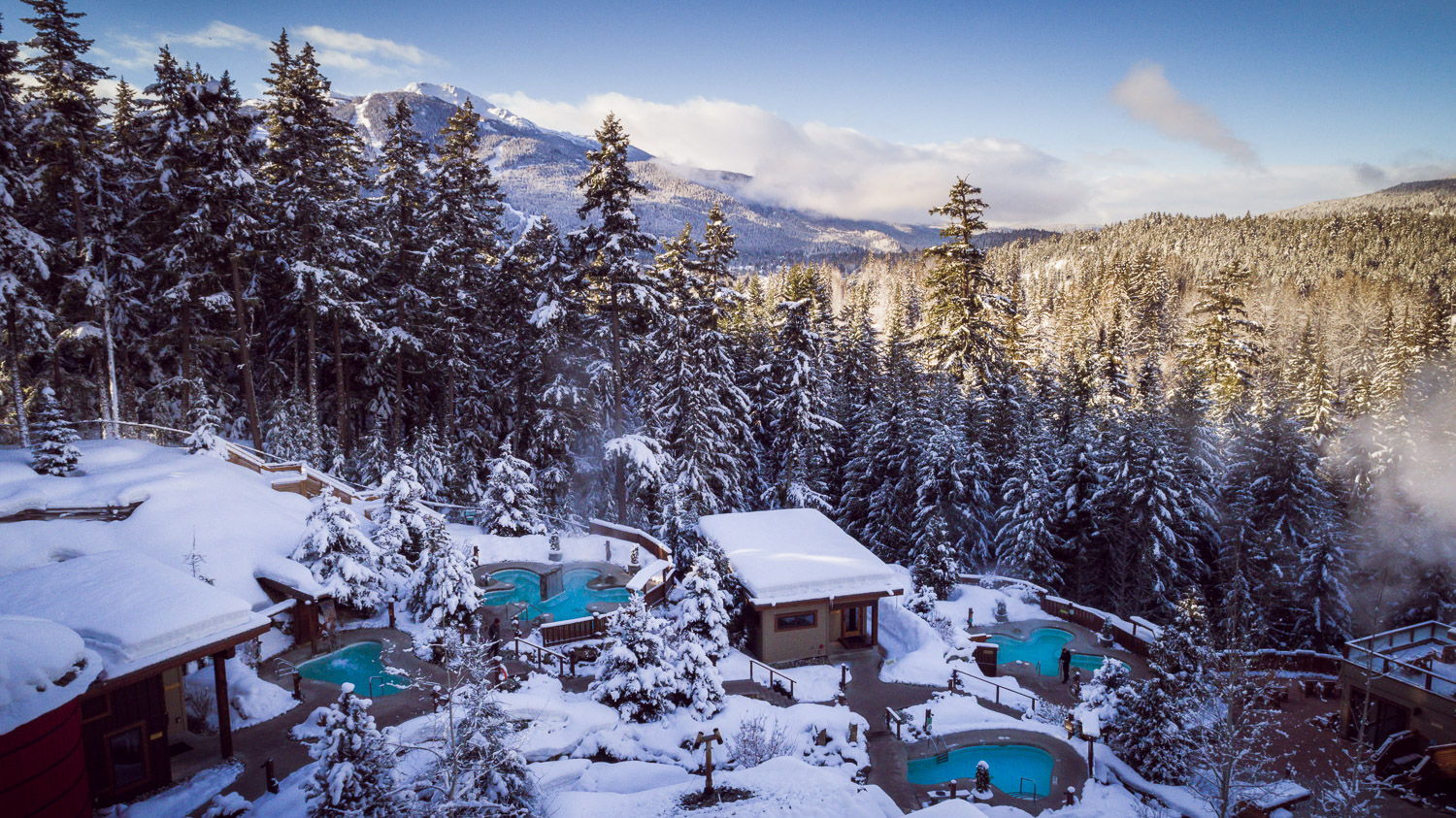 Wintery Scandinave spa site