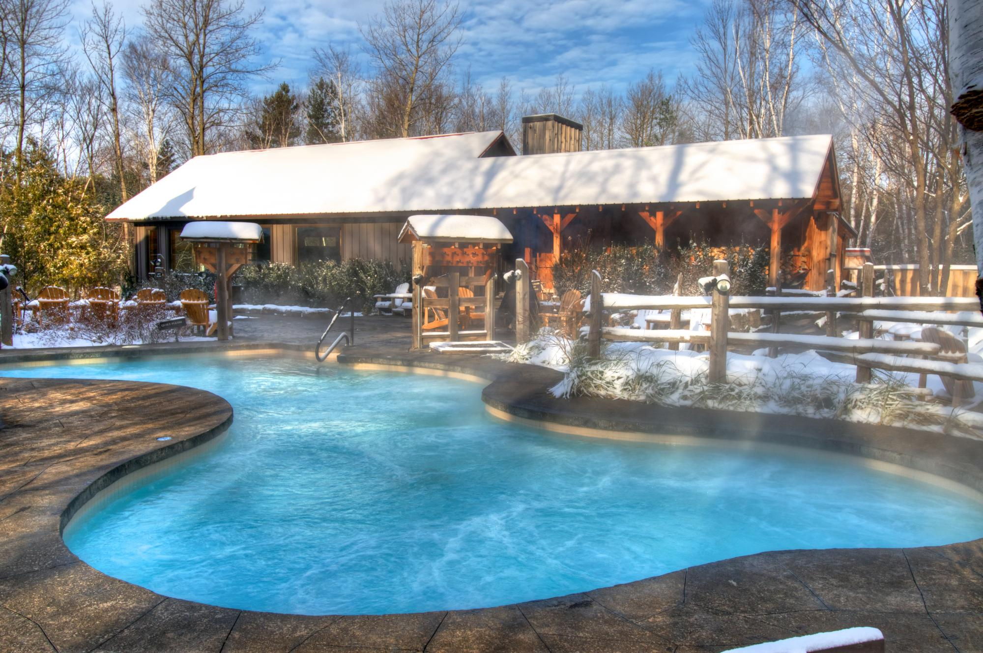 Winter at Scandinave Spa Blue Mountain
