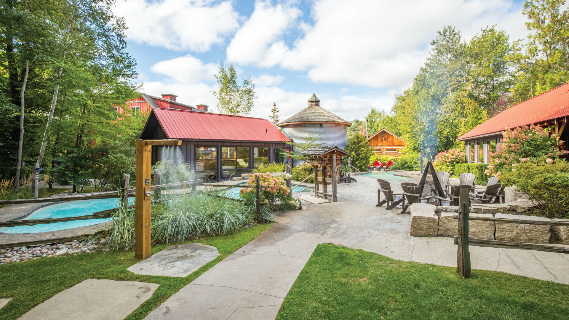 Summer day at Scandinave Spa Blue Mountain